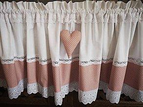 Úžitkový textil - Záclonka pudrovo ružová - 11602467_