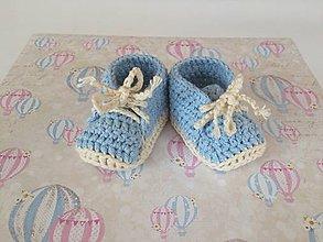 Topánočky - Topánočky blue pre maličkého - 11602278_