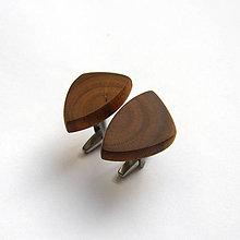 Šperky - Drevené manžetové gombíky -  hlošinové (nerez) - 11604711_