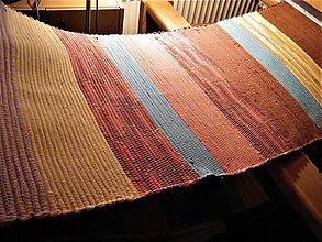 Úžitkový textil - Tkané koberce na objednávku tehlovo-hnedé  2 ks - 11604501_