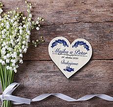 Darčeky pre svadobčanov - Svadobná magnetka - 11607621_