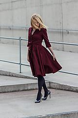 Šaty - Košilové šaty MILA, bordó - 11605981_