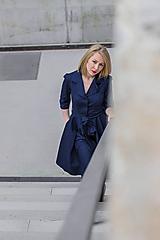 Šaty - Košilové šaty MILA, indigo modrá - 11605994_