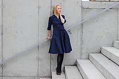 Šaty - Košilové šaty MILA, indigo modrá - 11605995_