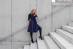 Šaty - Košilové šaty MILA, indigo modrá - 11605996_