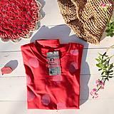 Tričká - červené/růžový puntík - 11605708_