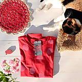 Tričká - červené/růžový puntík - 11605710_