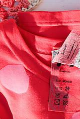 Tričká - červené/růžový puntík - 11605713_