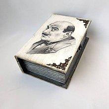 Krabičky - Drevená kniha Poirot - menšia - 11608940_