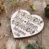Magnetky pre svadobčanov srdiečko ornamenty 2