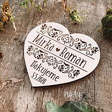 Darčeky pre svadobčanov - Magnetky pre svadobčanov srdiečko ornamenty 2 (20-50 kusov) - 11608559_
