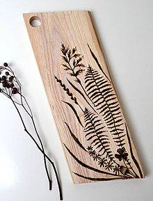 Pomôcky - Drevený lopárik-Papraď a tráva - 11606148_