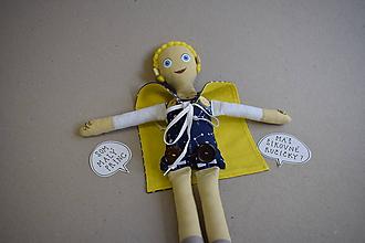 Hračky - Gombíková bábika - Malý princ - 11607303_
