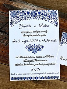 Papiernictvo - Ľudové svadobné oznámenia - 11608185_