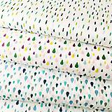 modré kvapky, 100 % bavlna Francúzsko, šírka 140 cm