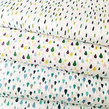 Textil - modré kvapky, 100 % bavlna Francúzsko, šírka 140 cm - 11606102_
