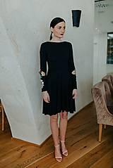 Šaty - čierne úpletové šaty Poľana - 11608963_