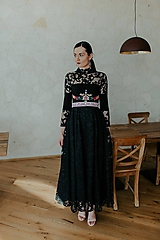 Šaty - dlhé krajkové šaty Slovenské devy - 11609077_