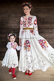 Šaty - ľanové madeirové šaty Poľana - 11607222_