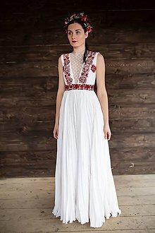 Šaty - plisované šaty Slovenské devy - 11607241_