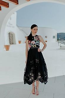 Šaty - čierne madeirové šaty Poľana - 11607534_