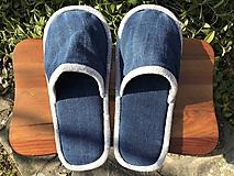 Obuv - Riflové papuče so šedým lemom - 11606178_