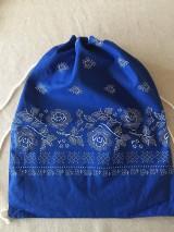 Batohy - folklorny batoh modrý - 11607972_