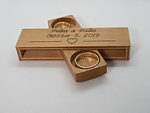 Prstene - drevená krabička na svadobné prstene/obrúčky (Buk) - 11608484_