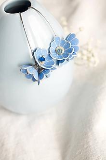 Náušnice - Kvetinové tanečnic. Nebo (chirurgická oceľ) - 11606882_