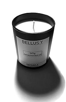 Svietidlá a sviečky - BELLUS Y - Sójová sviečka - 11608056_