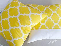 Úžitkový textil - DEKORAČNÉ VANKÚŠE / obliečky žlte - 11609338_