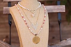 Náhrdelníky - Náhrdelníky (choker, retiazka jeleňom, náhrdelník Mandala) - 11606076_