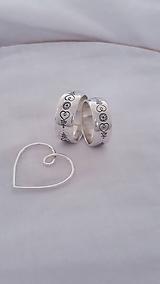 Prstene - Svadobné obrúčky s folk vzorom - 11605893_