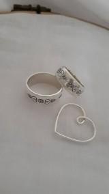 Prstene - Svadobné obrúčky s folk vzorom - 11605904_