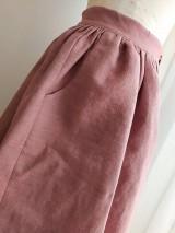 Sukne - Ľanová sukňa s vreckami - 11608270_