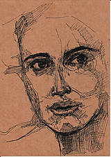 Kresby - Portrét neznámej - 11612220_