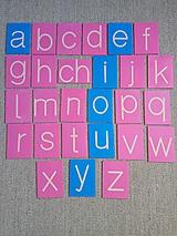 Hračky - Montessori šmirgľova abeceda male tlačené písmená - 11611312_