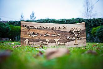 Dekorácie - Citát na dreve - 11609660_