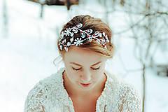 Ozdoby do vlasov - Postriebrená čelenka s krištáľmi, jadeitmi a tigrím okom - Devanka - 11610785_