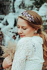 Ozdoby do vlasov - Postriebrená čelenka s krištáľmi, jadeitmi a tigrím okom - Devanka - 11610790_