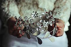 Ozdoby do vlasov - Postriebrená čelenka s krištáľmi, jadeitmi a tigrím okom - Devanka - 11610808_
