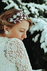 Náušnice - Postriebrené náušnice s kvetmi- Devanka - 11610921_