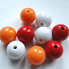 Korálky - Korálky COLOR plast 16mm-1ks - 11612293_