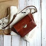 Kabelky - Kožená kabelka Molly (čokoládová hnedá) - 11610417_