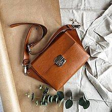 Kabelky - Kožená kabelka Molly (koňaková hnedá) - 11610410_