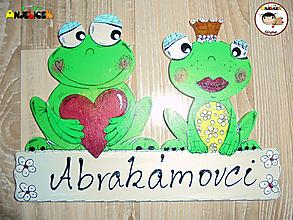 Tabuľky - Menovka - žabky - 11610050_