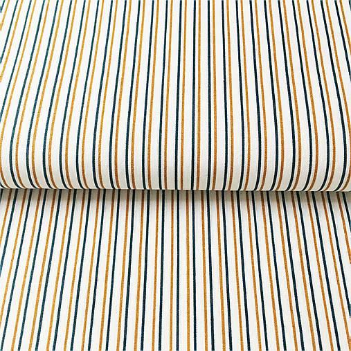 kráľovské pásiky, 100 % bavlna Francúzsko, šírka 140 cm