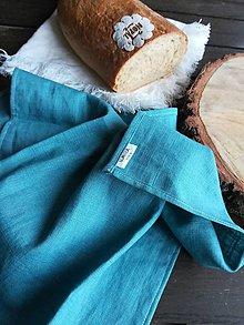 Úžitkový textil - Ľanová kuchynská utierka - 11609906_