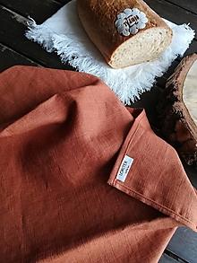 Úžitkový textil - Ľanová kuchynská utierka - 11609953_