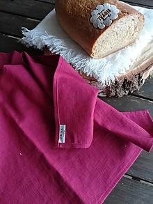 Úžitkový textil - Ľanová kuchynská utierka - 11609959_